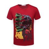 L'été personnalisent le T-shirt multi de coton de promotion de vente en gros d'O-Collet de couleur