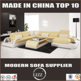 Mobiliário doméstico Sofá de sala de estofamento de couro