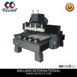 Máquina de madera rotatoria de la carpintería del CNC del ranurador del CNC de 4 ejes (VCT-3230FR-10H)