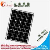 mono painel 100W solar para a luz solar