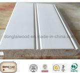 Panneau de mur en pin radiata décoratif personnalisé blanc personnalisé