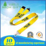 中国の製造業者の卸売首かポリエステルか編まれるかロゴの習慣のナイロンか印刷または昇華または携帯電話の締縄ストラップ最小値無し