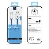 Голубой кабель USB кабеля данным по USB штепсельной вилки стороны двойника цвета микро- в кабеле мобильного телефона