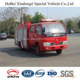 euro 4 del camion dei vigili del fuoco del serbatoio di acqua di 3ton Dongfeng