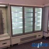 유리제 문을%s 가진 새로운 디자인 편리점 유형 Multideck 냉장된 내각