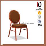 Runde Rückseite rot und weißes Streifen-Gewebe, das Stühle speist