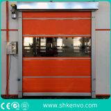 Rápidos rápidos de alta velocidade da tela do PVC rolam acima a porta do obturador