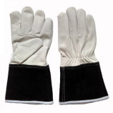 Перчатки заварки TIG руки теплостойкfGs кожи козочки защитные