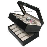 Slot reloj de pulsera caja de regalo Colección de joyas de cuero del caso del almacenaje de visualización