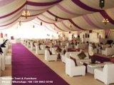 Tente de Hall de mariage de 1000 personnes avec le plafond de rideau en garniture de décoration