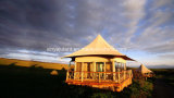 Tente de luxe de safari d'hôtel de tente de course avec la grande pièce