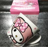 Taza de cerámica de Chilrdren con la tapa animal