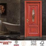 Modèle solide en verre clair intérieur de porte en bois de chêne de cuisine (GSP3-001)