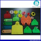 워드를 가진 75X60mm 가축 귀 꼬리표 (노랗거나 녹색 또는 빨강 또는 주황색)