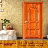 Porte simple intérieure en bois solide pour la chambre à coucher (GSP2-017)
