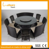Leisure Outdoor Dining Set de mesa de jantar Wicker Square Dining Table Set