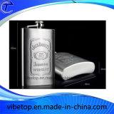 A fábrica exporta a garrafa diminuta barata do quadril do aço inoxidável