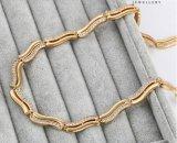 43287 Formluxuxzircon-Schmucksache-Halskette überzogen mit Gold 18k