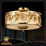 Chinesische Art-Antike-runde Decken-Messinglampe (KATX-1800-5A)