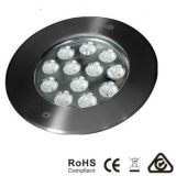 Changement de couleur 12X3w LED Deck Floor Inground Lighting