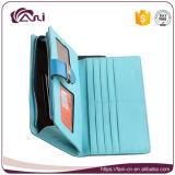 Кожаный изготовление бумажника, голубой бумажник PU цвета для монеток кредитных карточек