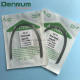 Denrum歯科Nitiのワイヤー歯科矯正学のアーチは熱作動したタイプをワイヤーで縛る