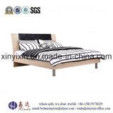Guangzhou-Fabrik-Königin-Größe modernes PU-ledernes Bett (B02#)