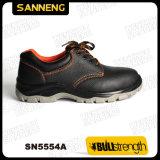 Zapatos de seguridad de cuero industriales con la nueva planta del pie de PU/PU (Sn5554)