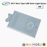 2017 nuovo tipo indicatore luminoso solare tutto compreso 8W del giardino del LED