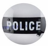 Transparenter runder Antiaufstand für Polizei-Schild