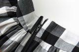 Юбка шотландки оптовой он-лайн высокой черноты качания круга Inspred шкафута ретро белая
