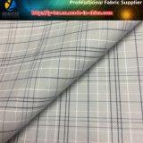 Tessuto tinto spazzolato dell'assegno del filato di poliestere con pelo molle per l'indumento