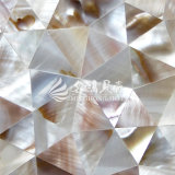 Azulejo de mosaico irregular del color de Brown de la naturaleza del triángulo del shell de la perla de agua dulce de la madre