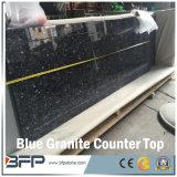 Partes superiores azuis naturais da vaidade do granito preço europeu do estilo do bom
