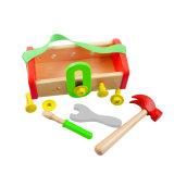 Brinquedo de madeira da caixa de ferramentas de DIY para miúdos e crianças