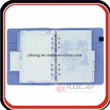 Planificador del cuaderno del cuero de la carpeta de anillos de la impresión 6 de CYMK
