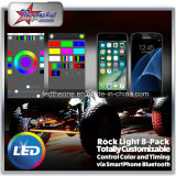 Multicolor LED Rock Light Underbody Coches Barco 4/6/8/12 Pods