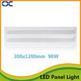 Lumière en aluminium de panneau de plafond du matériau 96W DEL 300X1200 de corps de lampe