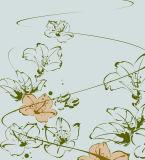 un bello disegno delle farfalle e della ragazza per la pittura domestica della decorazione