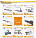 Extrusion en Plastique en Pierre de Produit de Panneau de Voie de Garage de PVC Faisant la Machine