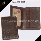 Promoção Gift Custom Leather Business Name Card Holder