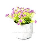El resorte artificial de la flora florece el ramo en el crisol del cemento para la decoración del hogar y de la oficina