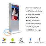 Assoalho de 55 polegadas que está o quiosque ao ar livre da tela de toque para o LCD ao ar livre que anuncia (MW-551OE)