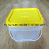 Ведро 2L 5L 8L 15L 20L пластичный упаковывать еды HDPE/PP безопасное ясное