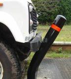 Poteau d'amarrage d'avertissement flexible en plastique d'unité centrale de sécurité routière de base carrée