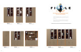 中国の現代木の家具マネージャの執行部の机