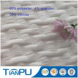 Espuma de poliéster de rayas viscosa tejido de punto de colchón