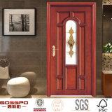 Diseño sólido de cristal claro interior de la puerta de madera de roble de la cocina (GSP3-001)