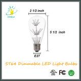 Getaande LEIDENE van Stoele St18/St58 6W E26 Bollen Edison Lamp