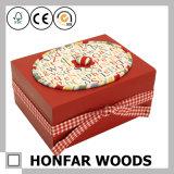 시골풍 미완성 단단한 나무 선물 상자 보석함 저장 상자